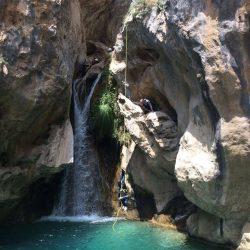 Barranquismo Río Verde, descenso de barranco Lentegí, La bolera, Trevélez.