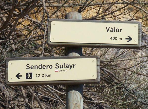 Senderismo GR 240 Sendero Sulayr