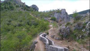 Ruta de las Tricheras de Moclín, Vía ferrata Fuente Vieja